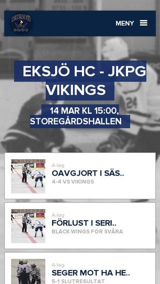 Mobile preview of eksjohockey.se