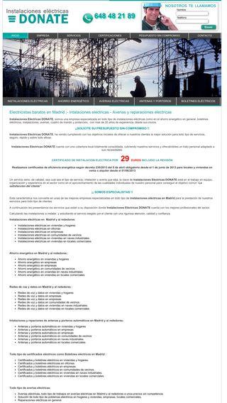 Mobile preview of electricistasbaratosmadrid.es