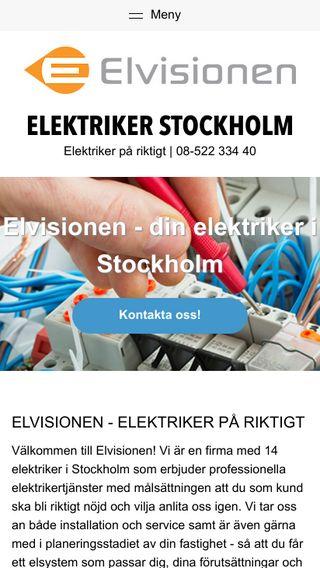 Mobile preview of elektrikerstockholm.biz