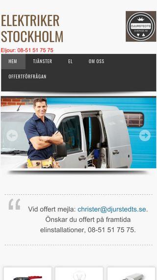 Mobile preview of elektrikerstockholm.nu