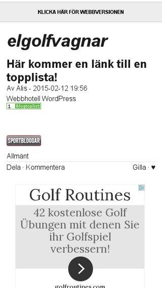 Mobile preview of elgolfvagnar.bloggplatsen.se