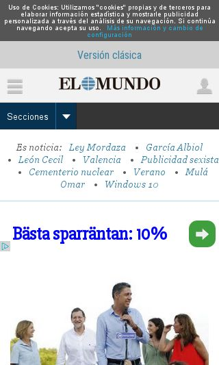 Mobile preview of elmundo.es