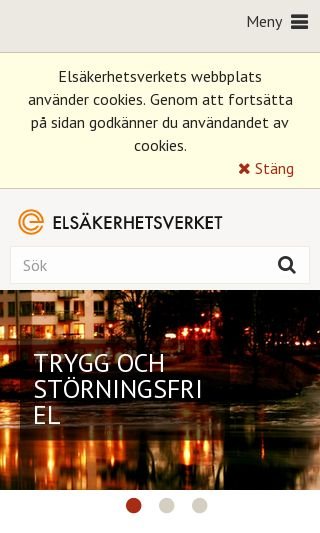 Mobile preview of elsakerhetsverket.se