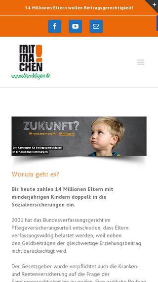 Mobile preview of elternklagen.de
