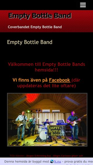 Mobile preview of emptybottleband.n.nu
