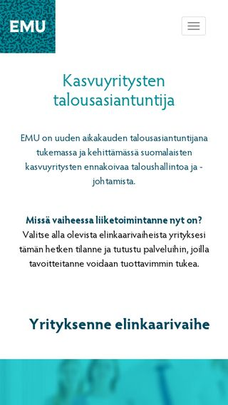 Mobile preview of emu.fi