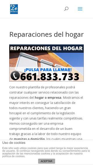Mobile preview of en24horas.com.es