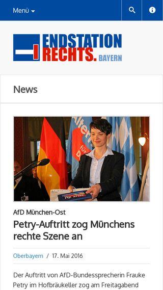 Mobile preview of endstation-rechts-bayern.de