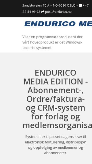 Mobile preview of endurico.no