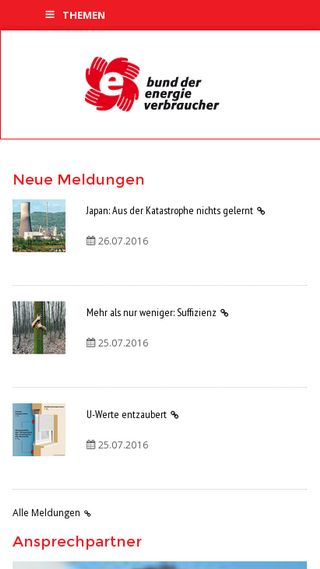 Mobile preview of energieverbraucher.de