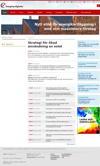 Mobile preview of energimyndigheten.se