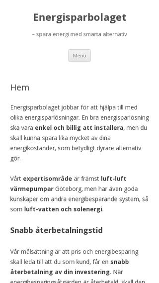 Mobile preview of energisparbolaget.se