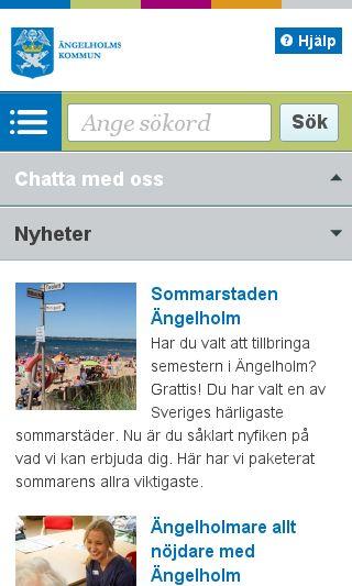 Mobile preview of engelholm.se