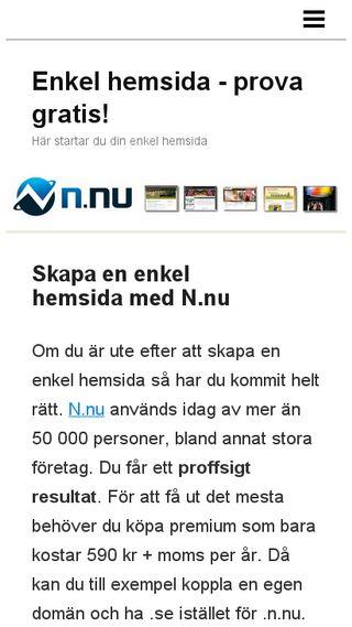 Mobile preview of enkelhemsida.nu