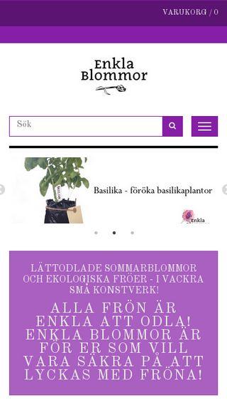Mobile preview of enklablommor.se