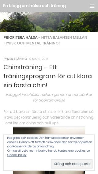 Mobile preview of entillbloggomhalsa.se
