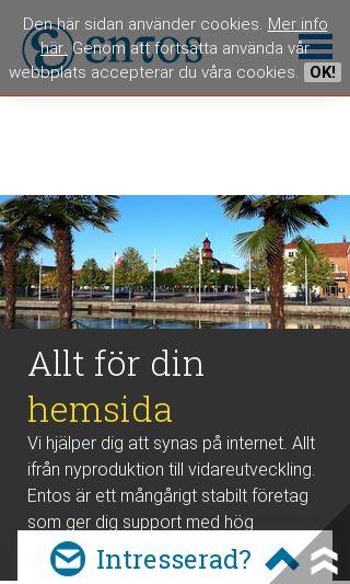 Mobile preview of entos.se
