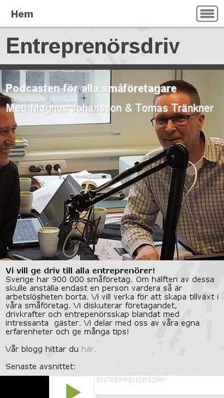 Mobile preview of entreprenorsdriv.se