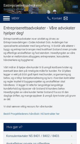 Mobile preview of entrepriserettsadvokater.no