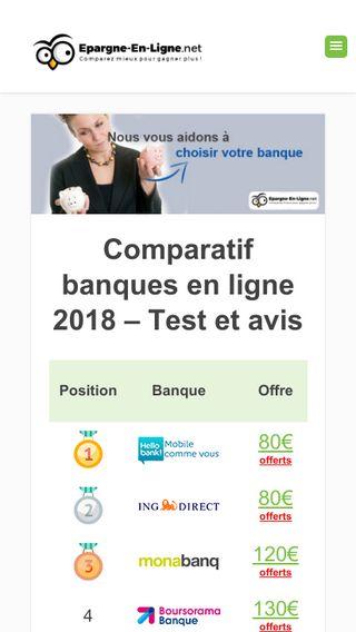 Mobile preview of epargne-en-ligne.net