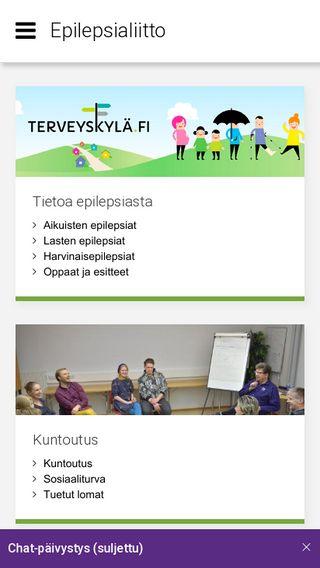 Mobile preview of epilepsia.fi