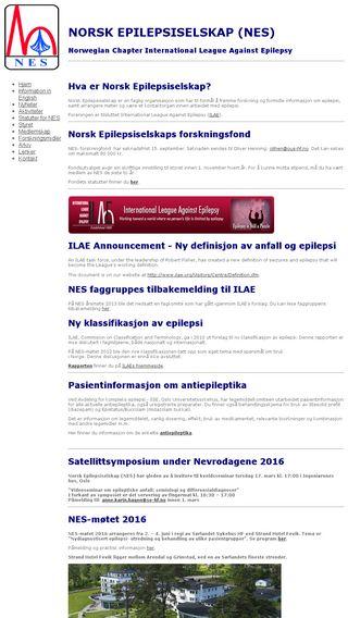 Mobile preview of epilepsiselskapet.no
