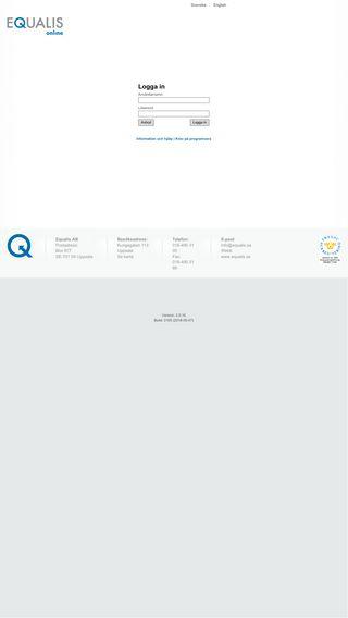Mobile preview of equalisonline.equalis.se
