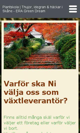 Mobile preview of eragreendream.se