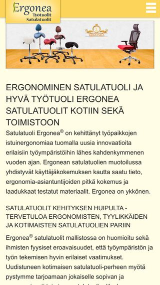 Mobile preview of ergonea.fi