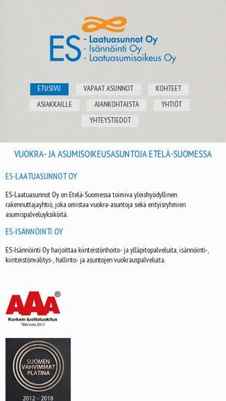 Mobile preview of es-laatuasunnot.fi