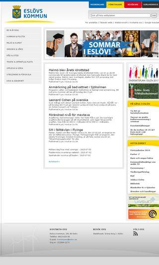 Mobile preview of eslov.se