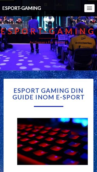 Mobile preview of esport-gaming.se