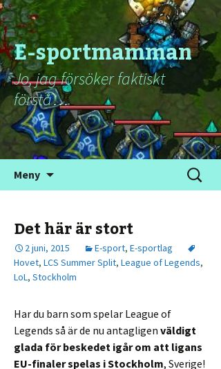 Mobile preview of esportmamman.se