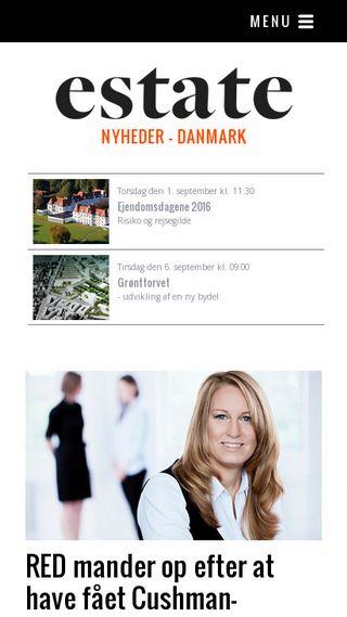 Mobile preview of estatemedia.dk