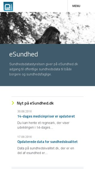 Mobile preview of esundhed.dk