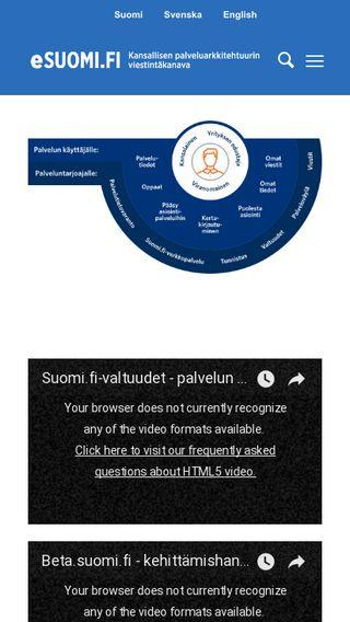 Mobile preview of esuomi.fi