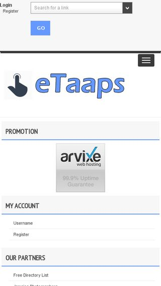 Mobile preview of etaaps.org