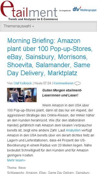 Mobile preview of etailment.de