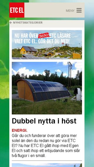 Mobile preview of etcel.se