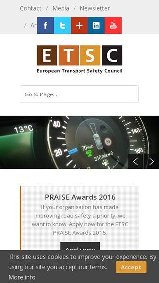 Mobile preview of etsc.eu