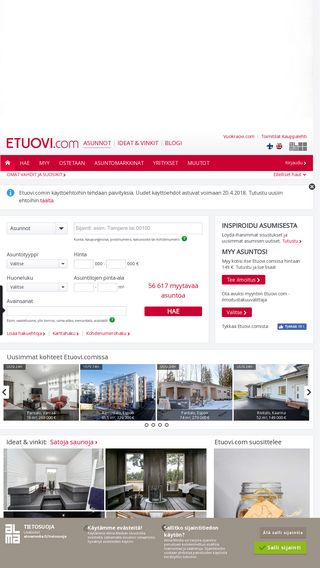 Mobile preview of etuovi.com