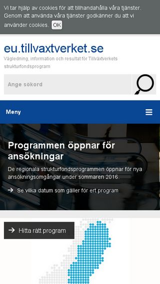 Mobile preview of eu.tillvaxtverket.se