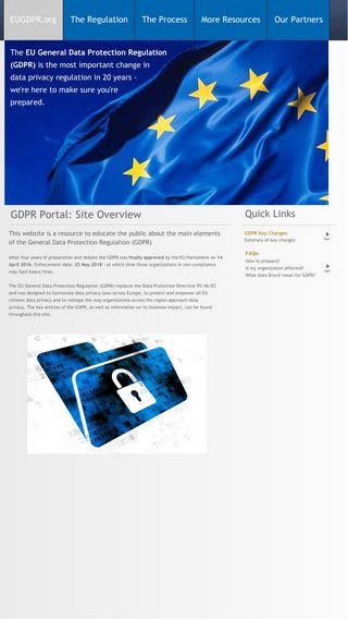 Mobile preview of eugdpr.org