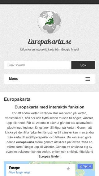 Mobile preview of europakarta.se
