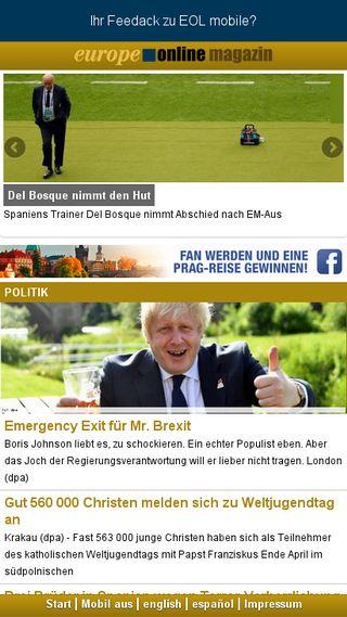 Mobile preview of europeonline-magazine.eu