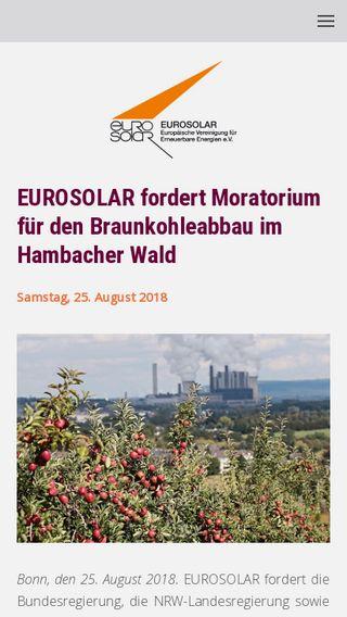 Mobile preview of eurosolar.de