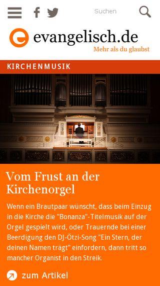 Mobile preview of evangelisch.de