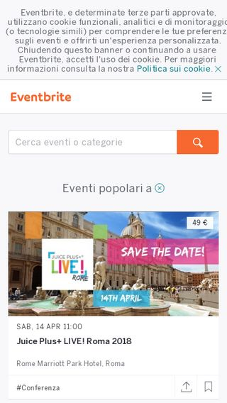 Mobile preview of eventbrite.it