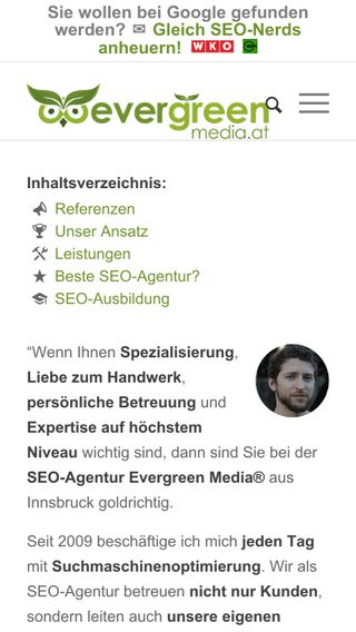Mobile preview of evergreenmedia.at