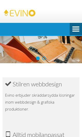Mobile preview of evino.se